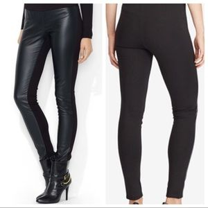 Ralph Lauren faux leather ponte leggings pants